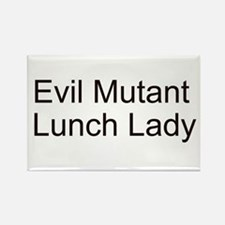 Evil Mutant Lunch Lady Rectangle Magnet