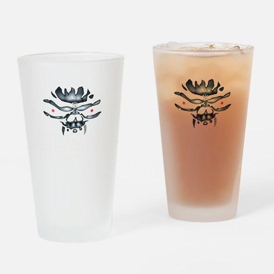 greedy one percent w copy Drinking Glass