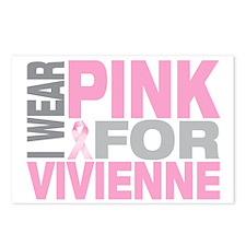 I-wear-pink-for-VIVIENNE Postcards (Package of 8)