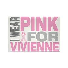 I-wear-pink-for-VIVIENNE Rectangle Magnet