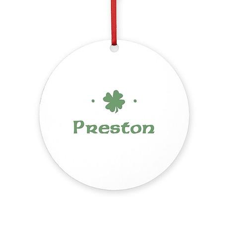 """""""Shamrock - Preston"""" Ornament (Round)"""