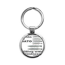 Hbomb Round Keychain