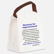 reason4impeach.gif Canvas Lunch Bag