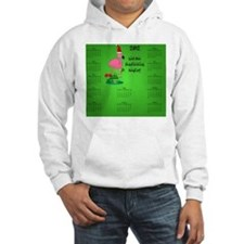 Dark_mousepad_christmas_flamingo Hoodie