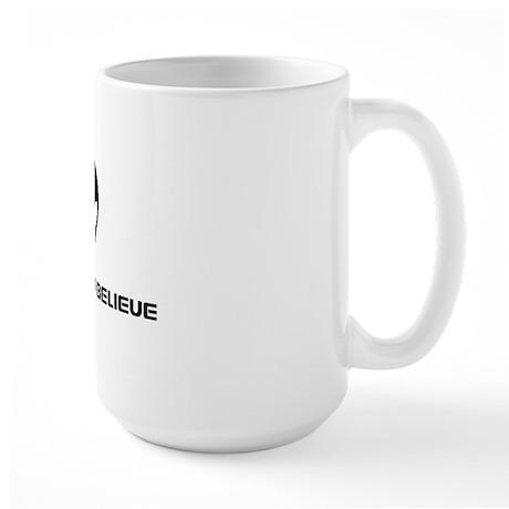 I want to believe black Large Mug