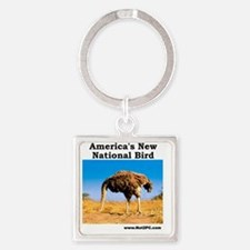 National Bird Square Keychain