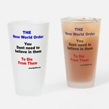 nwo believe Drinking Glass