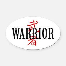 Warrior Asian Oval Car Magnet