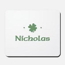 """Shamrock - Nicholas"" Mousepad"