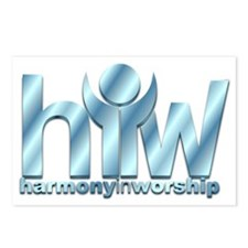 HIW Logo False3D Postcards (Package of 8)