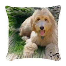 Goldendoodle Woven Throw Pillow