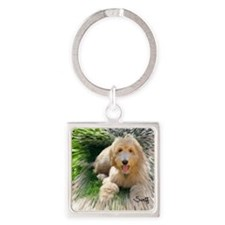 Goldendoodle Square Keychain