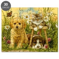 PUPPIES AND KITTEN Puzzle