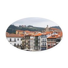 Old town and fishing port of Lekei Oval Car Magnet