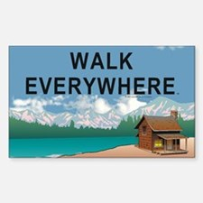 TOP Walk Everywhere Sticker (Rectangle)