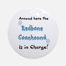 Coonhound Charge Ornament (Round)