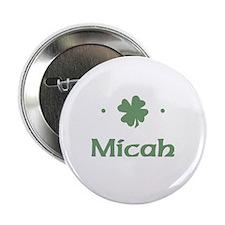 """""""Shamrock - Micah"""" Button"""