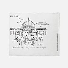 MEN_Idiots Fly Throw Blanket