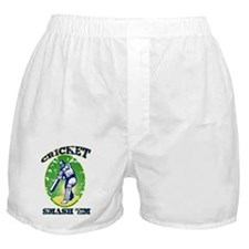 cricket player batsman with bat retro Boxer Shorts