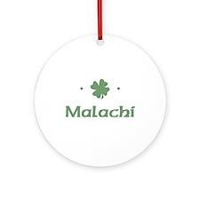 """Shamrock - Malachi"" Ornament (Round)"