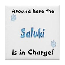Saluki Charge Tile Coaster
