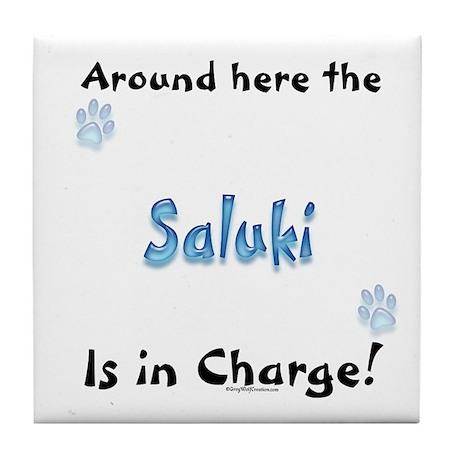 Saluki Charge Tile Coaster