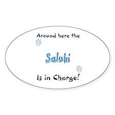 Saluki Charge Oval Decal