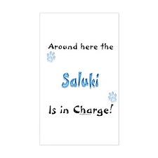 Saluki Charge Rectangle Decal