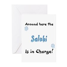 Saluki Charge Greeting Cards (Pk of 10)