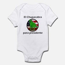 Chupacabra para presidente (Spanish) Infant Bodysu