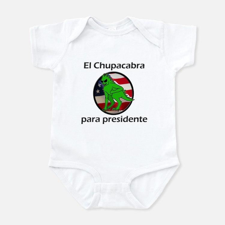 Chupacabra para presidente (Spanish) Infant Bodysu