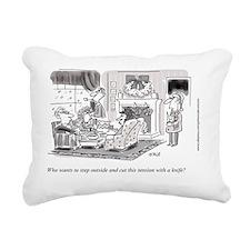 Xmas_Family Tension Rectangular Canvas Pillow