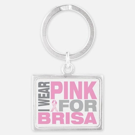 I-wear-pink-for-BRISA Landscape Keychain