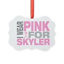 I-wear-pink-for-SKYLER Ornament