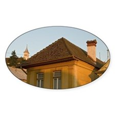 Church and houses in Sacele town Br Decal