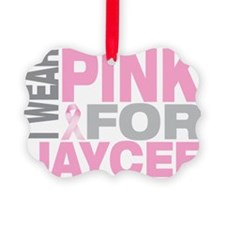 I-wear-pink-for-JAYCEE Picture Ornament
