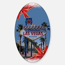 Las Vegas Christmas Sticker (Oval)