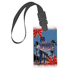 Las Vegas Christmas Luggage Tag