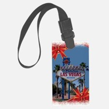Las Vegas Christmas Luggage Tag