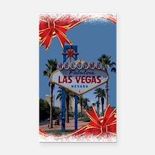 Las Vegas Christmas Rectangle Car Magnet