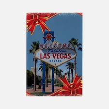 Las Vegas Christmas Rectangle Magnet