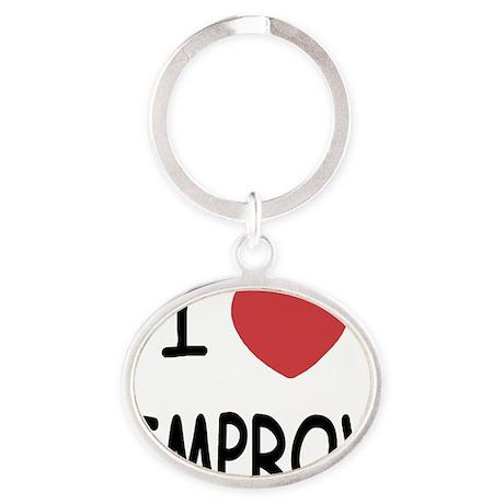 IMPROV Oval Keychain