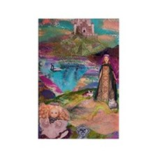 Two Wandering Princesses Rectangle Magnet