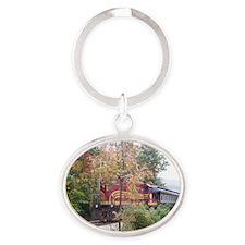 nhfoliage 003 Oval Keychain