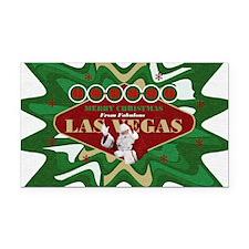 Las Vegas Christmas Stocking Rectangle Car Magnet