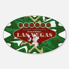 Las Vegas Christmas Stocking Sticker (Oval)