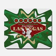 Las Vegas Christmas Stocking Mousepad