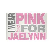 I-wear-pink-for-JAELYNN Rectangle Magnet