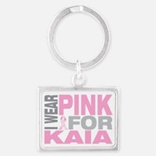 I-wear-pink-for-KAIA Landscape Keychain