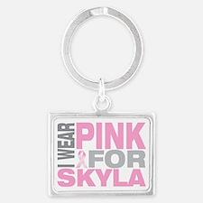 I-wear-pink-for-SKYLA Landscape Keychain